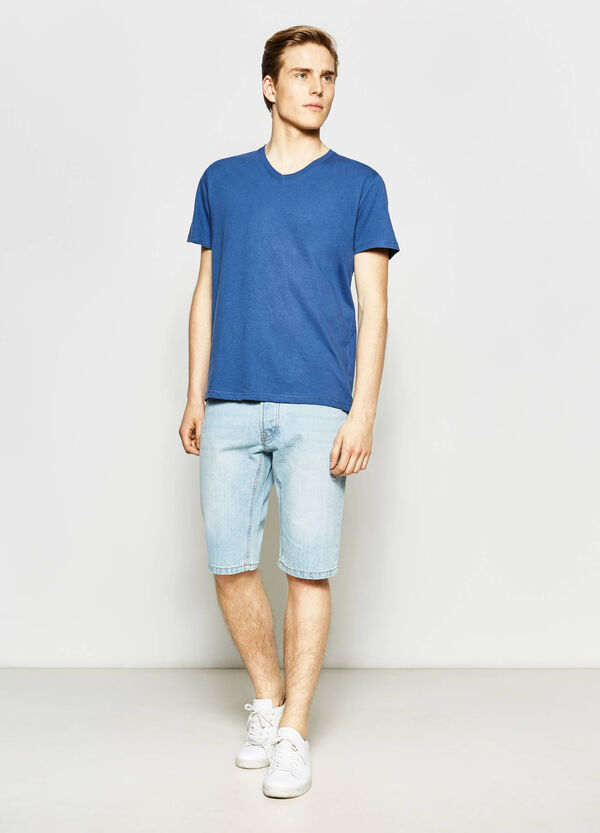 Slim-fit denim Bermuda shorts | OVS