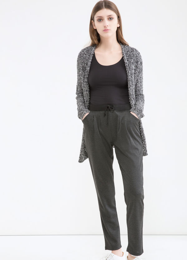 Patterned viscose blend trousers | OVS
