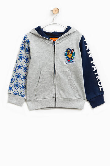 Sweatshirt with print and Paw Patrol patch, Grey/Blue, hi-res