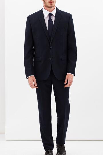 Regular fit plain jacket, Dark Blue, hi-res