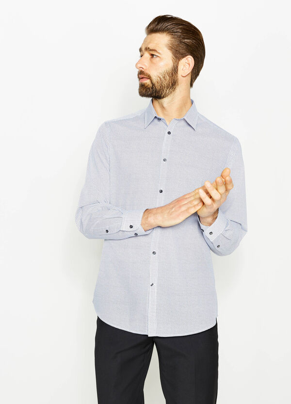 Regular-fit patterned formal shirt | OVS