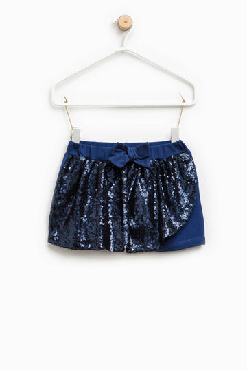 Shorts with sequins and bow, Cornflower Blue, hi-res
