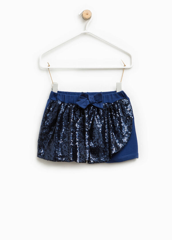Shorts with sequins and bow | OVS