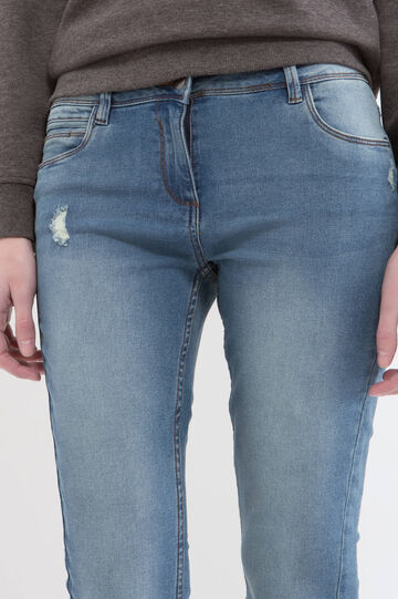 Regular fit jeans with worn effect, Blue, hi-res
