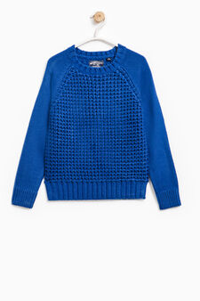 Chunky knit pullover, Royal Blue, hi-res