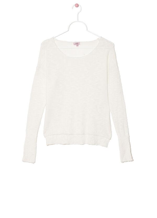 Cotton blend asymmetric pullover | OVS