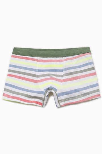 Biocotton boxers with striped pattern