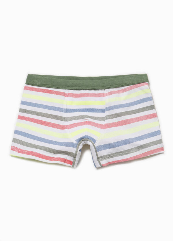 Biocotton boxers with striped pattern | OVS