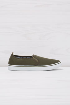 Solid colour slip-ons, Army Green, hi-res