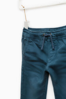 Jeans with elasticated waist and ankles., Deep Blue, hi-res