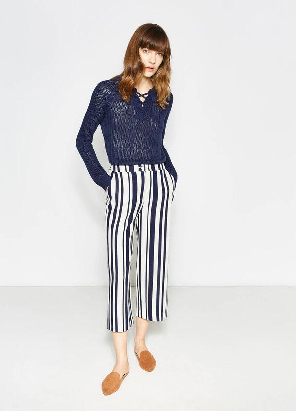 Striped crop trousers | OVS