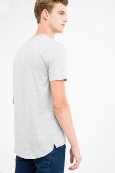 Printed round-neck 100% cotton T-shirt, Light Grey, hi-res