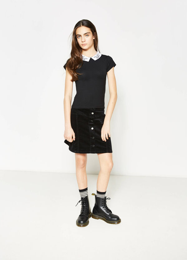 Falda en algodón elástico Teen | OVS