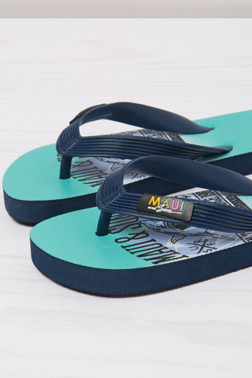 Shark print thong sandals by Maui and Sons
