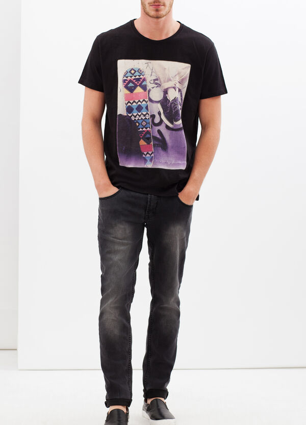 T-shirt with contrasting photo print | OVS