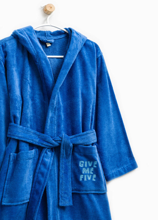 Embroidered robe in 100% cotton | OVS