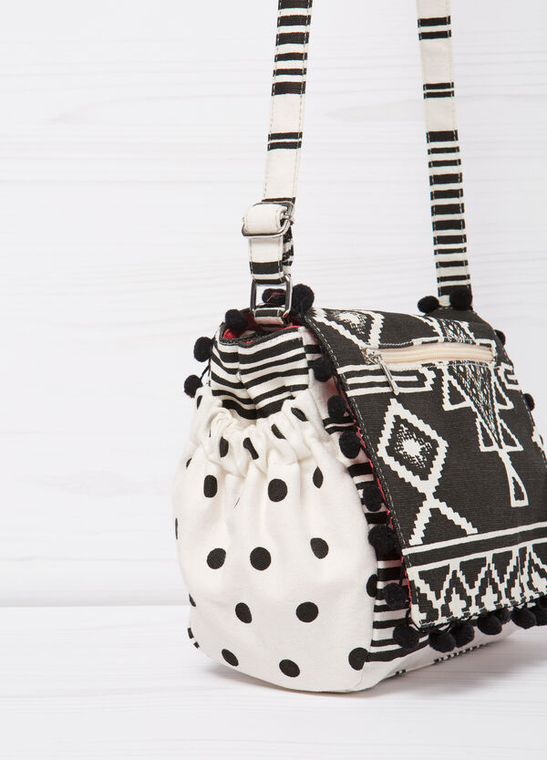 Patterned cotton shoulder bag | OVS