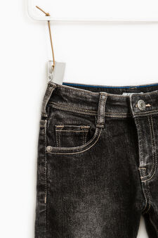 Skinny-fit, faded-effect jeans, Grey, hi-res