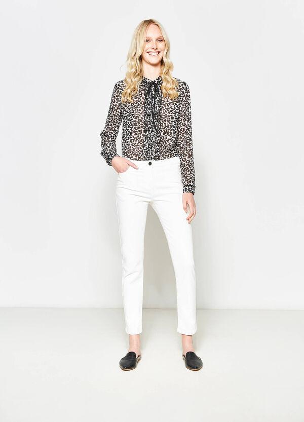 Pantaloni in twill con zip | OVS