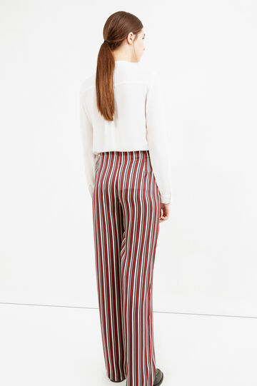 Palazzo trousers with stripes, Cream White, hi-res