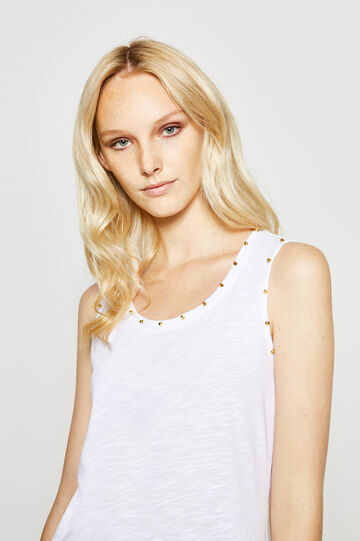 Cotton top with studs
