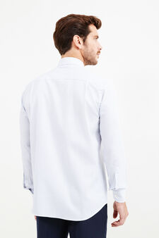 Patterned regular-fit formal shirt, White/Blue, hi-res