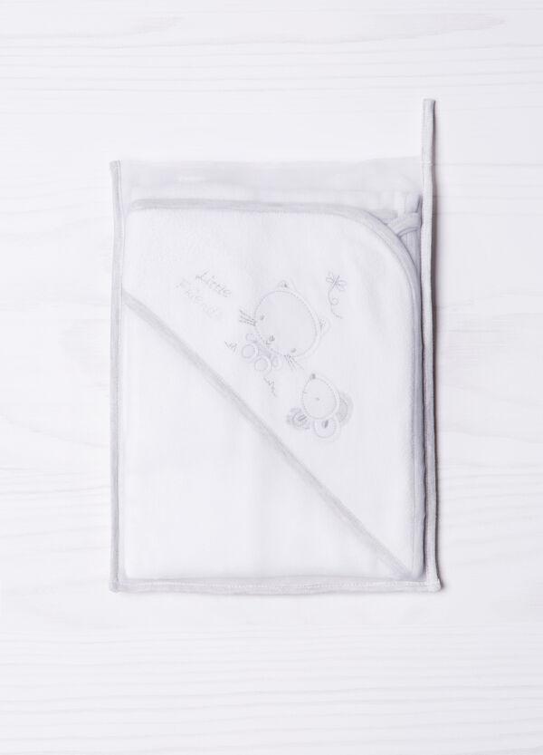 Accappatoio cotone con ricamo | OVS