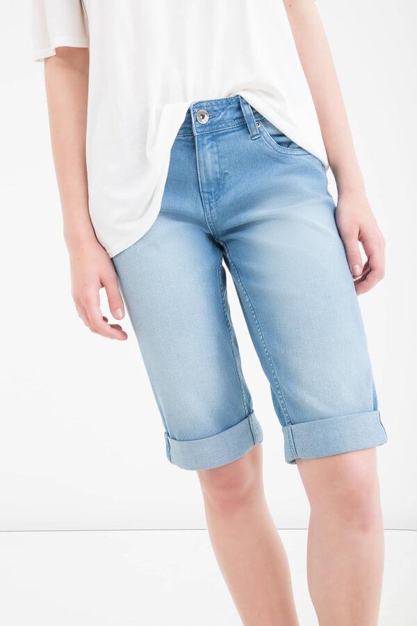 Bermuda jeans stretch effetto used | OVS