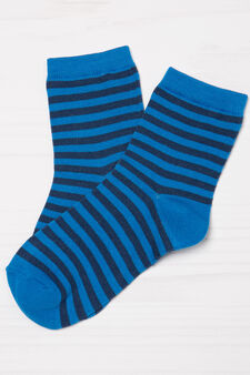 Two-pair pack stretch socks, Blue/Light Blue, hi-res