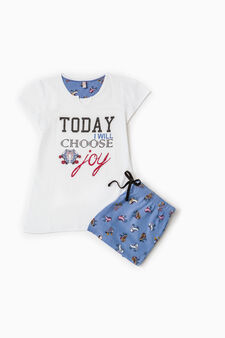 100% cotton pyjamas with skates print, White, hi-res