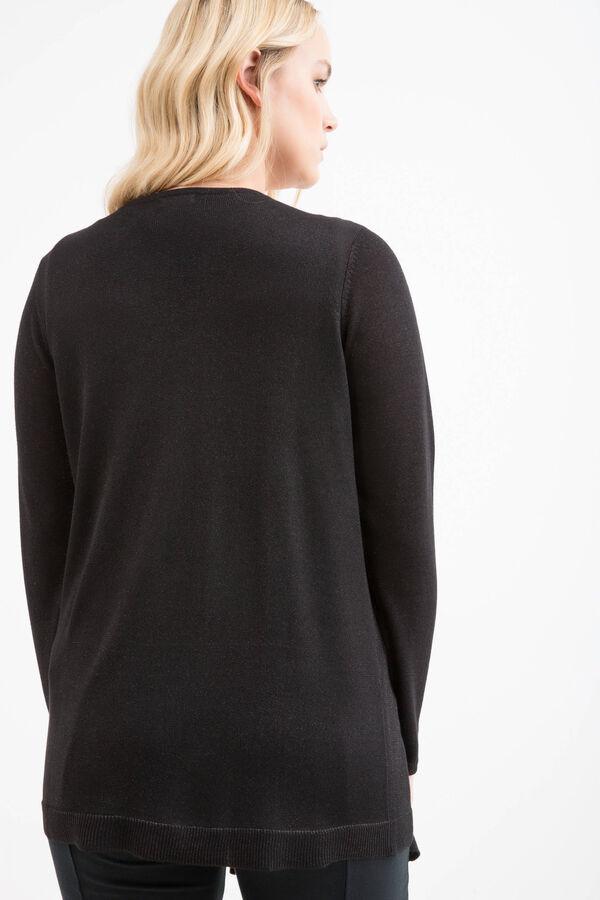 Curvy viscose blend lurex cardigan | OVS