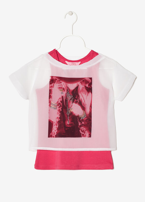 Sheer T-shirt with vest | OVS