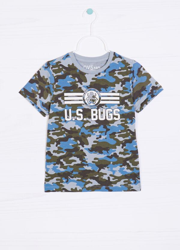 100% cotton camouflage T-shirt | OVS