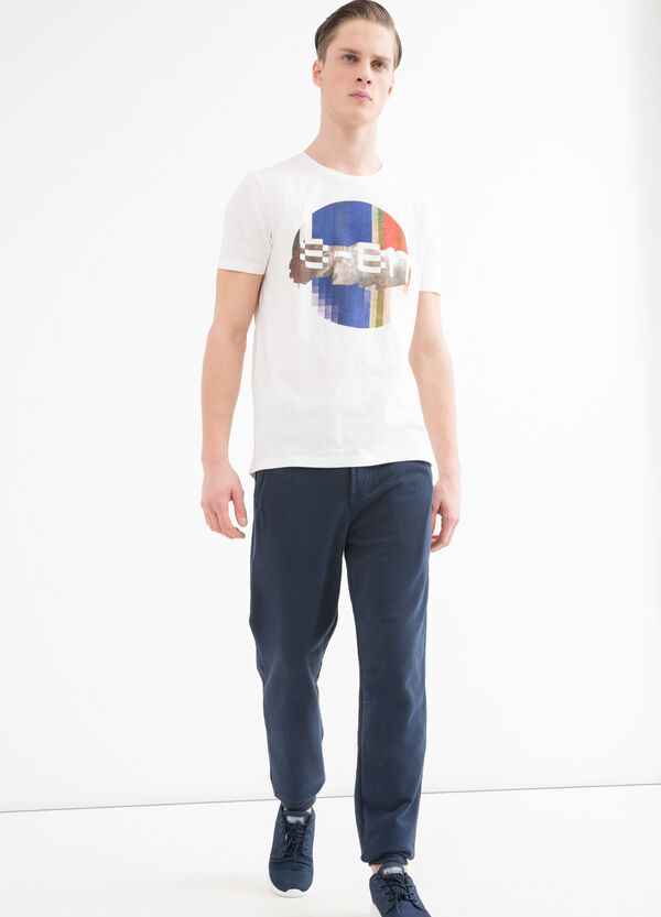 T-shirt puro cotone scollo costina | OVS