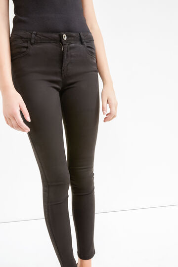 Super skinny-fit stretch trousers, Black, hi-res