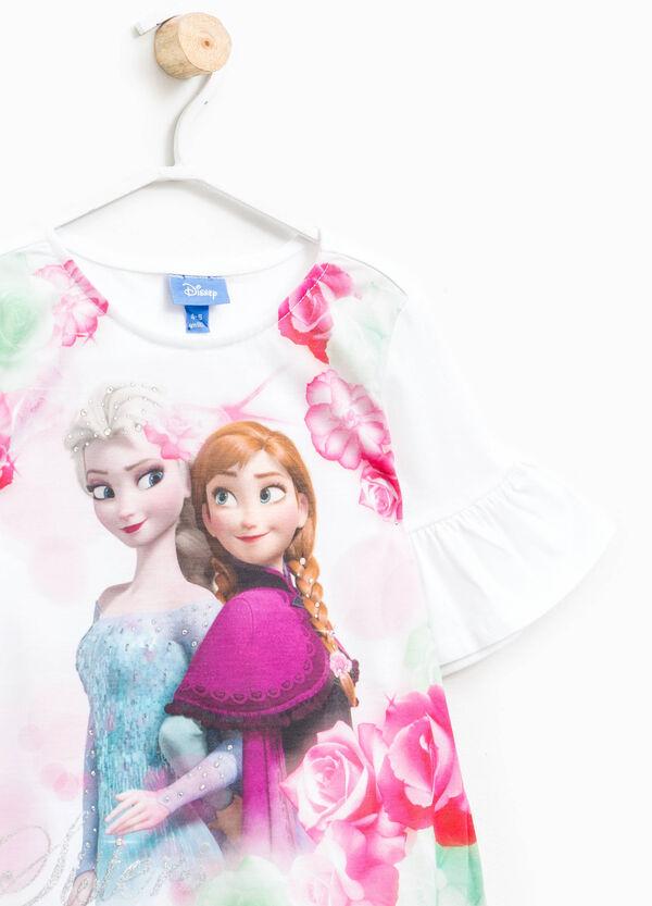 Camiseta de algodón con volante de Frozen | OVS