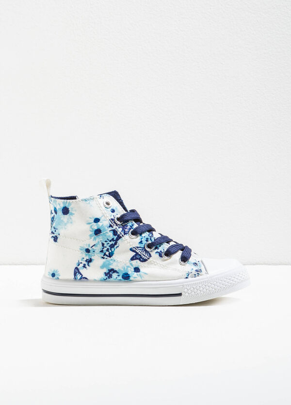 Floral print high sneakers | OVS
