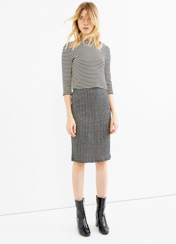 High waist tube skirt with lurex | OVS