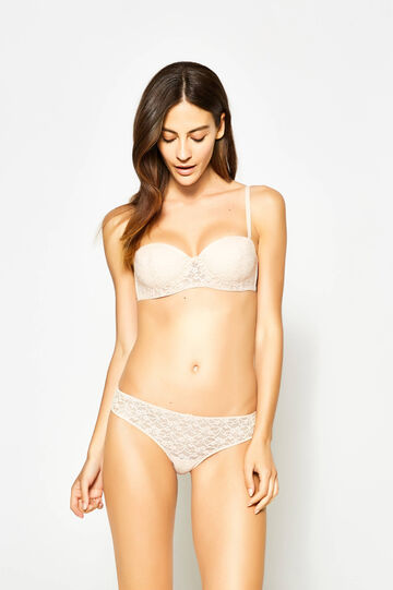 Lace Brazilian-cut briefs with bow