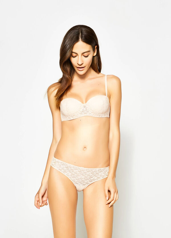 Lace Brazilian-cut briefs with bow | OVS