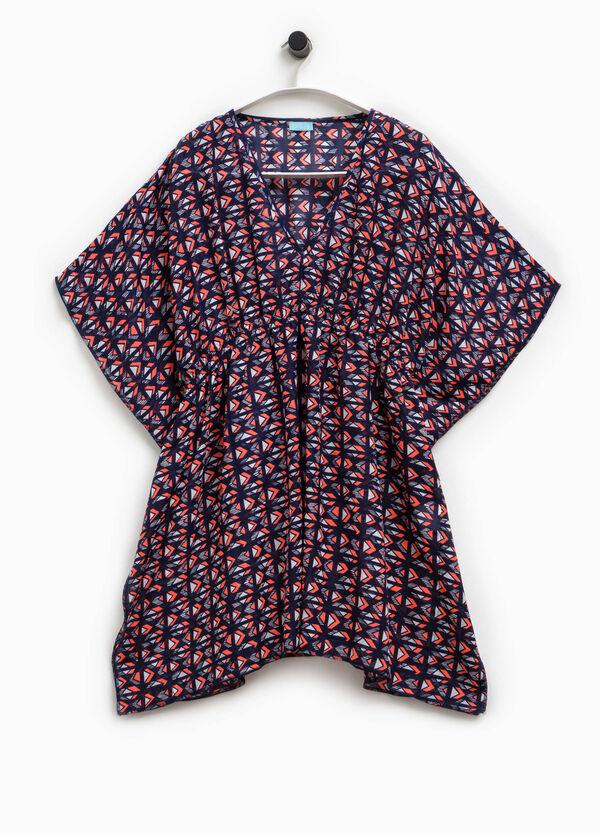 V-neck kaftan with pattern | OVS