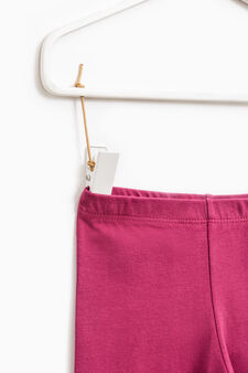 Solid colour stretch leggings, Fuchsia, hi-res