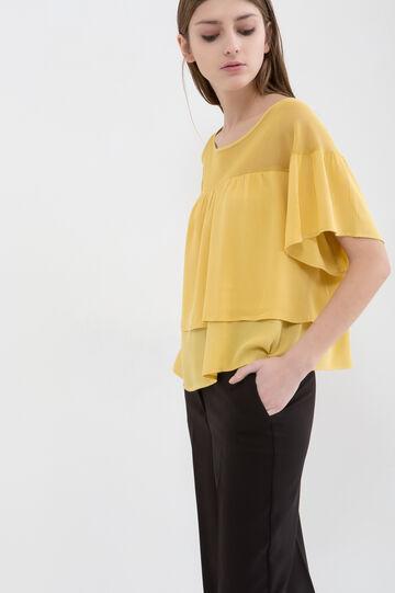 Blusa misto cotone e viscosa
