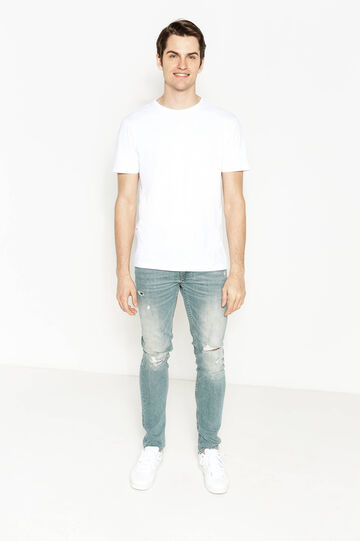Jeans skinny fit effetto used strappati, Denim, hi-res