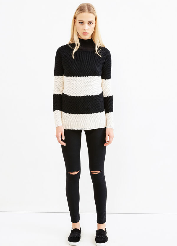 Chunky cotton blend pullover. | OVS
