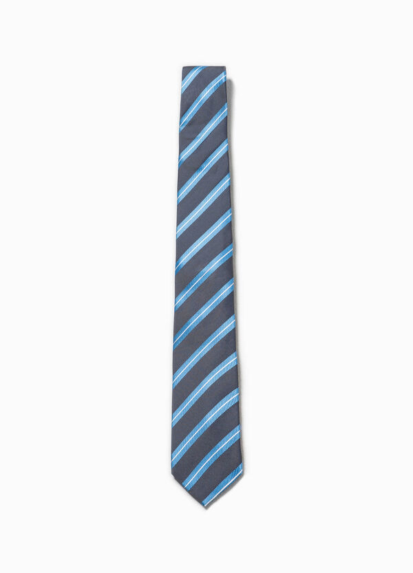 100% silk tie with stripes | OVS
