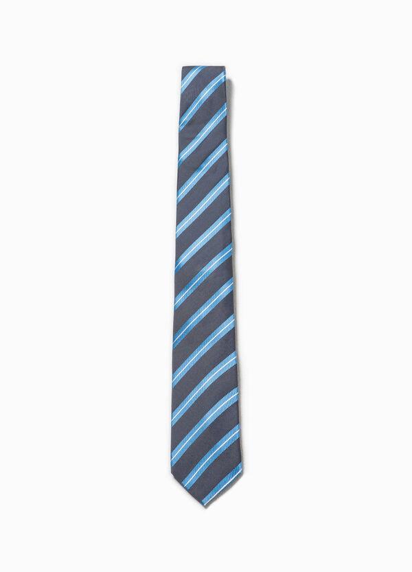 Corbata de rayas en seda 100% | OVS