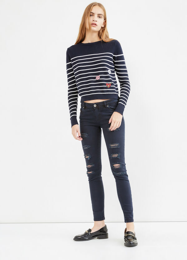 Ripped, skinny fit jeans | OVS