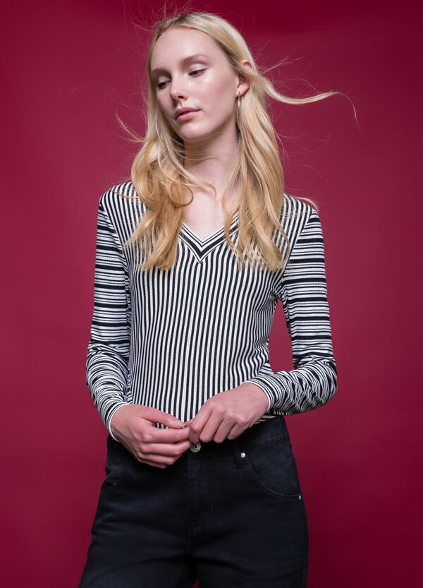 Long-sleeved striped T-shirt | OVS