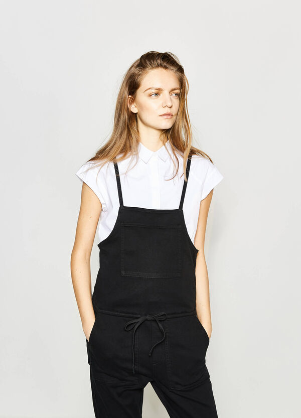 Stretch dungarees with drawstring | OVS
